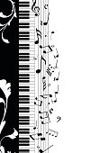 Musical note abstract background for design