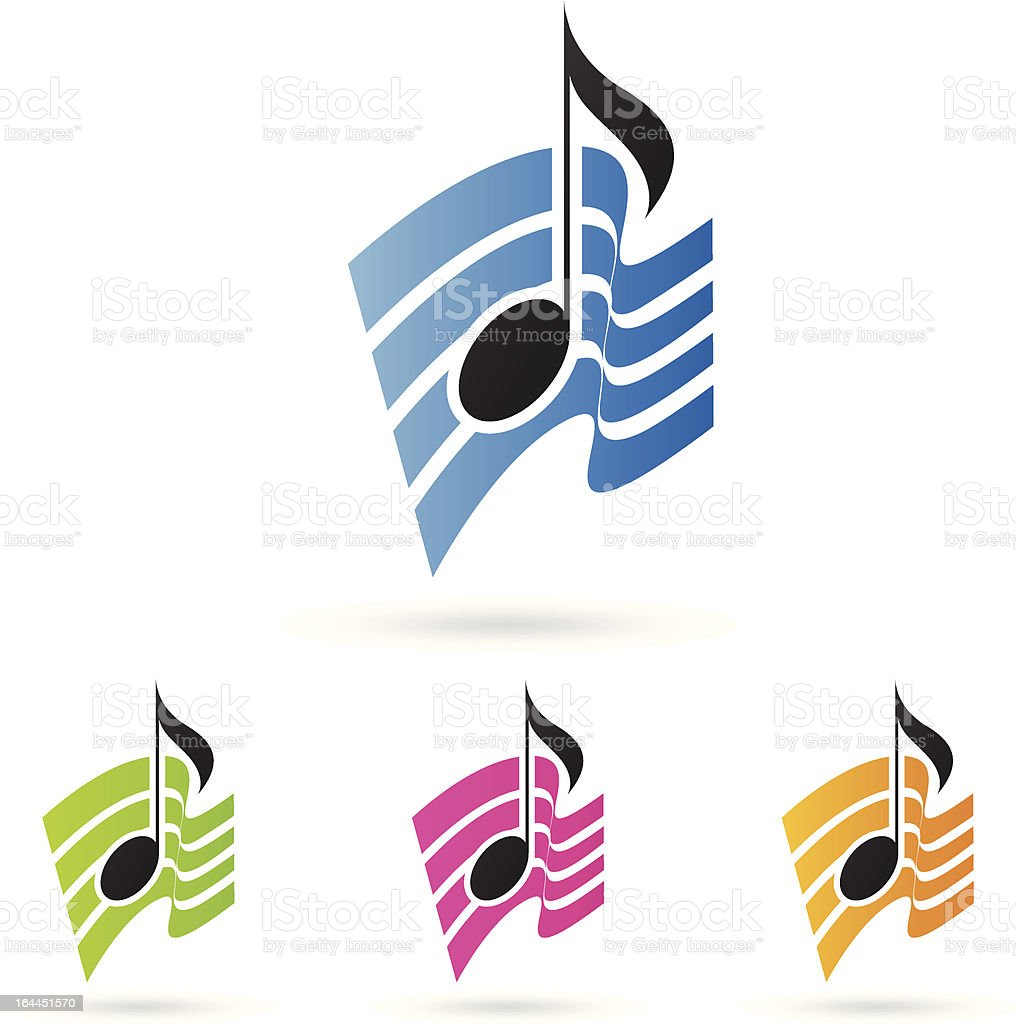 musical note vector royalty-free stock vector art