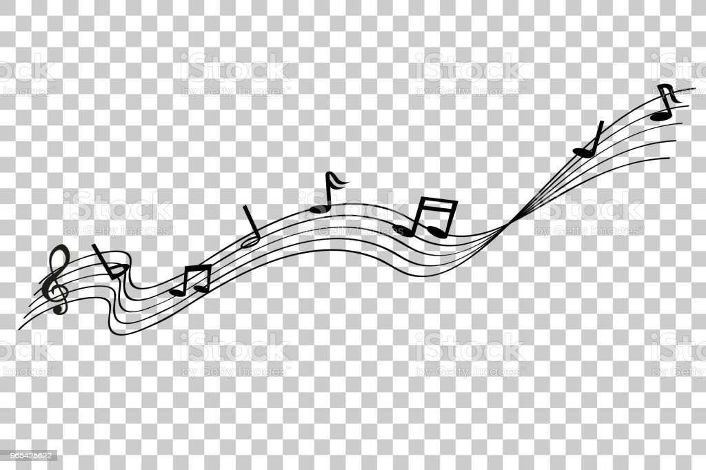 Musical Note waving line, for your element design, at transparent effect background musical note waving line for your element design at transparent effect background - stockowe grafiki wektorowe i więcej obrazów bez ludzi royalty-free