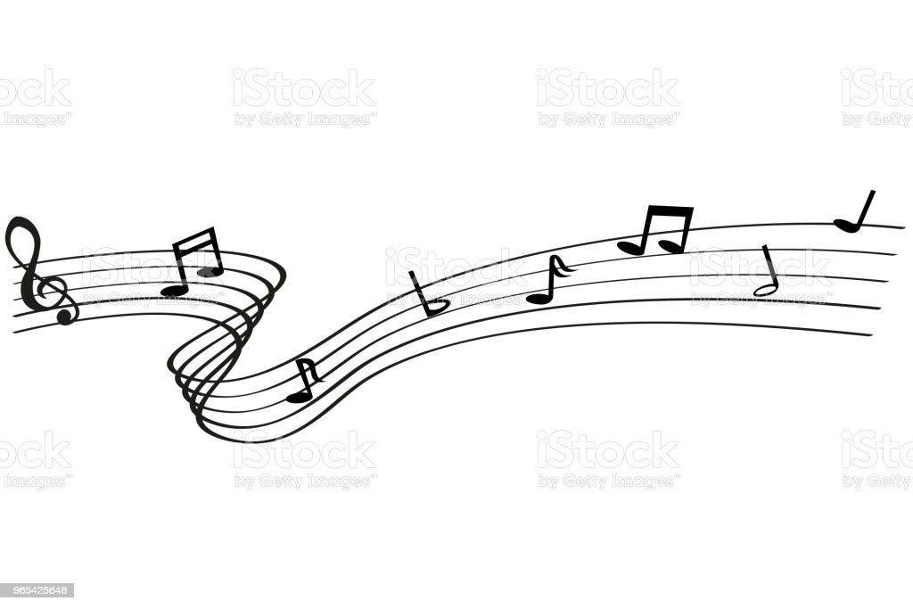 Musical Note waving line, for your element design, at white background musical note waving line for your element design at white background - stockowe grafiki wektorowe i więcej obrazów bez ludzi royalty-free