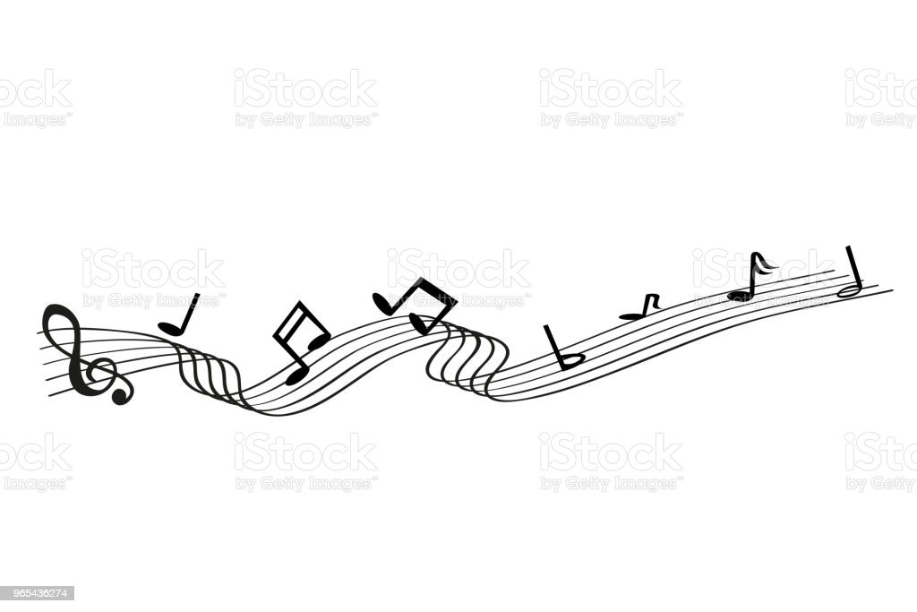 musical note waving line, for your element design royalty-free musical note waving line for your element design stock vector art & more images of arts culture and entertainment
