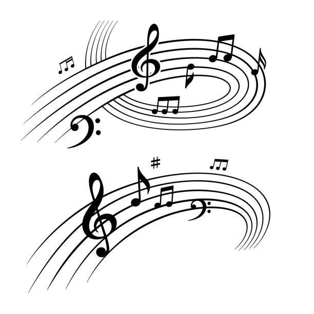 Musiknoten Designelemente – Vektorgrafik