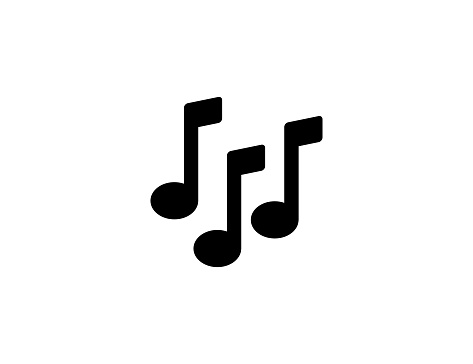 Musical notes icon. Isolated music sounds, sheet symbol vector
