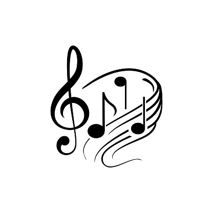 Musical notes icon symbol vector