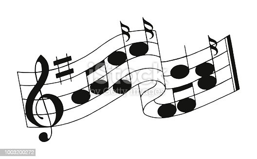 Musical Notes on a Staff
