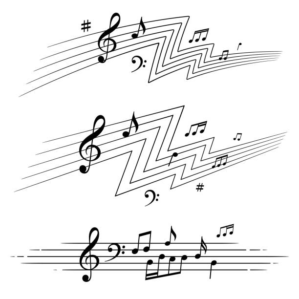 Musikalische Noten gesetzt – Vektorgrafik