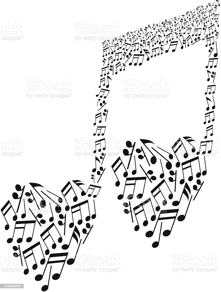 Vetores De Notas Musicais Simbolo E Mais Imagens De Elemento De