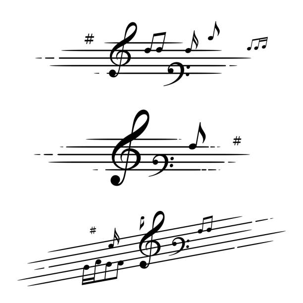 musical notes - zapis nutowy stock illustrations