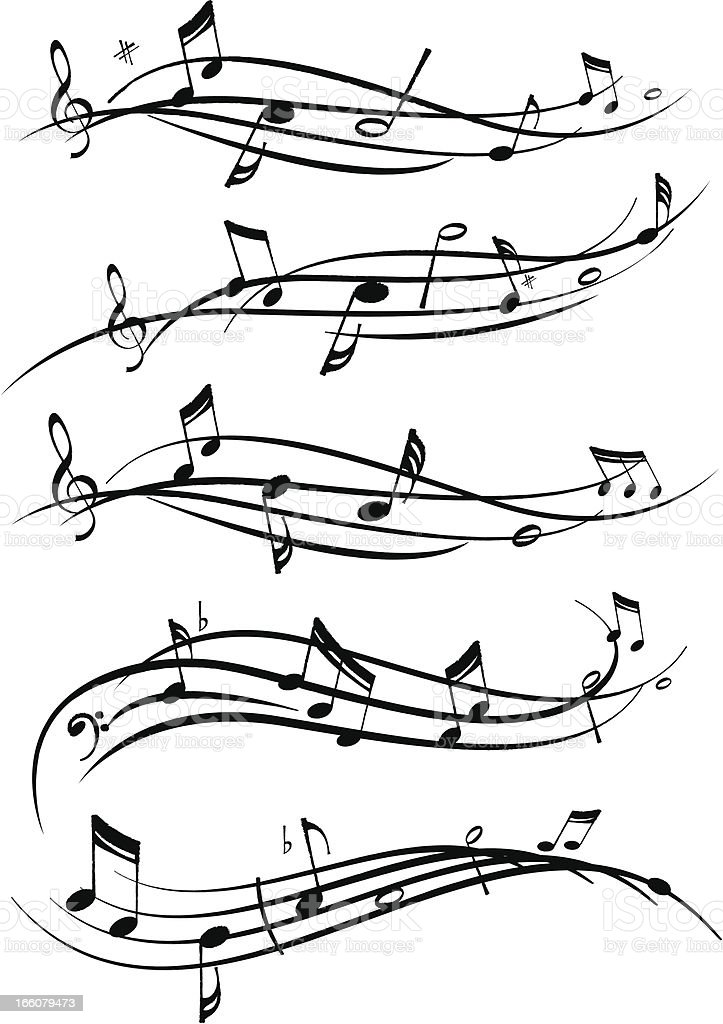 Musical Notes vector art illustration