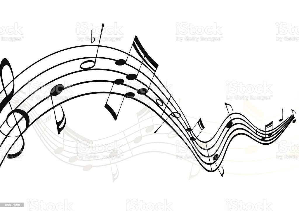 Musical Notes royalty-free stock vector art