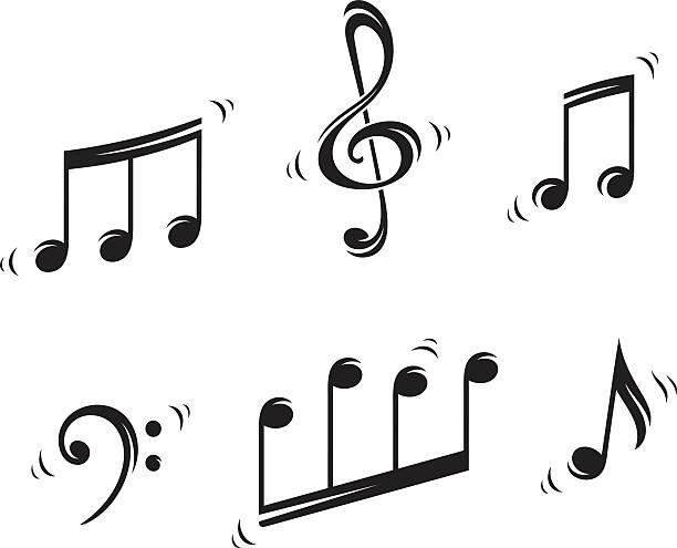 stockillustraties, clipart, cartoons en iconen met musical notes - noot