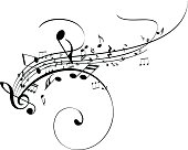 Black and white musical notes.