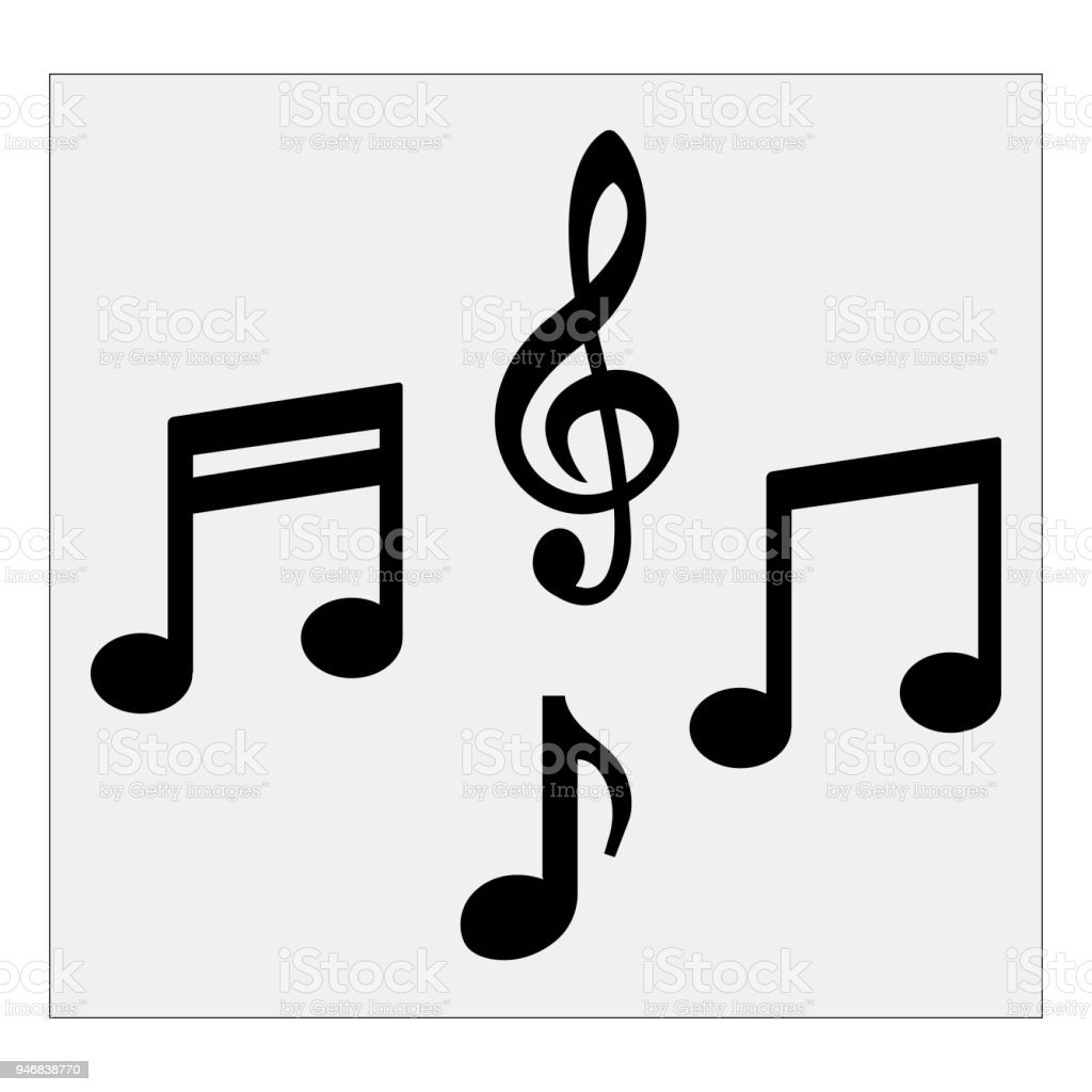 musical notes vector illustration stock vector art more images of rh istockphoto com Trumpet Notes Music Thank You Cards