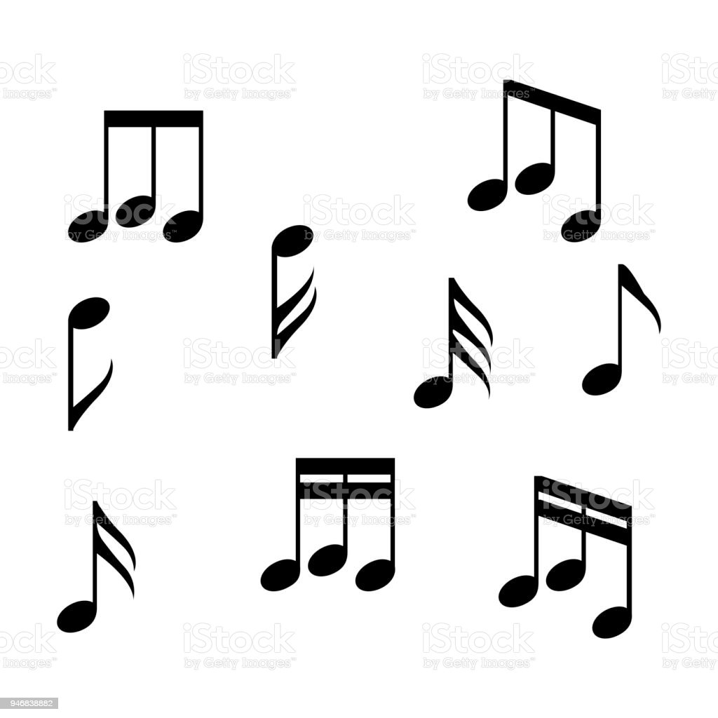 musical notes vector illustration stock vector art more images of rh istockphoto com Thank You Clip Art Trumpet Notes