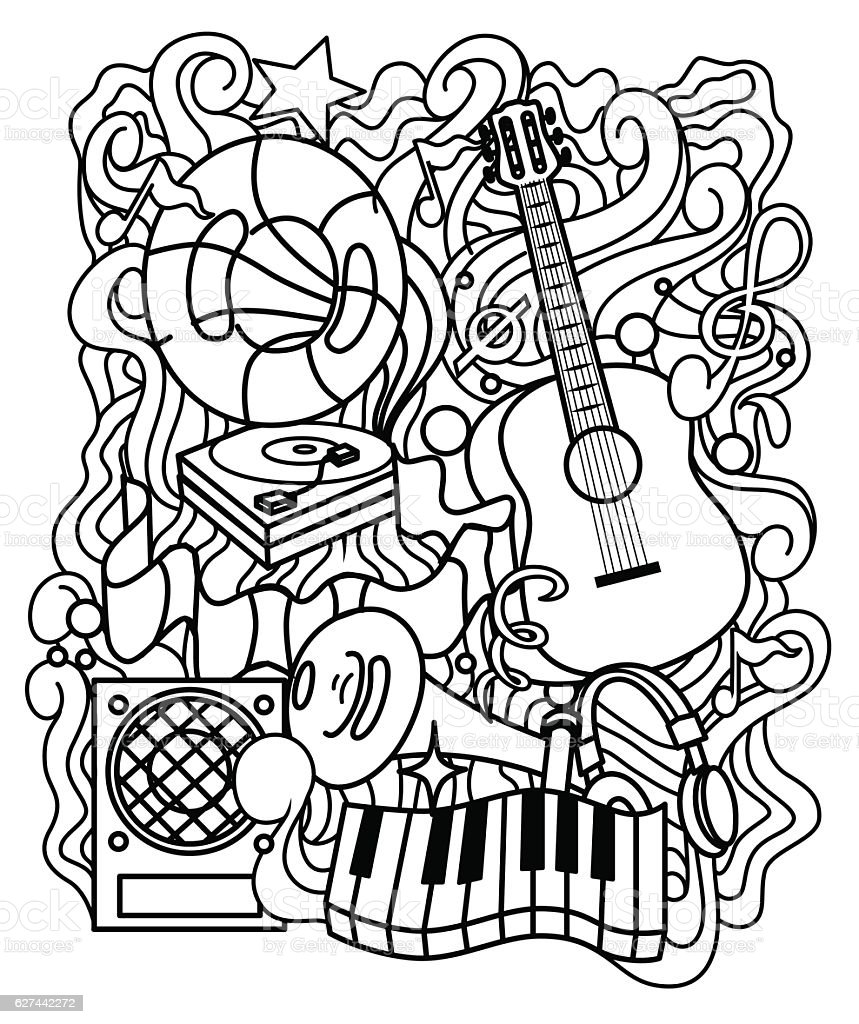 Musical Ornament For Coloring Page Or Relax Coloring Book ...