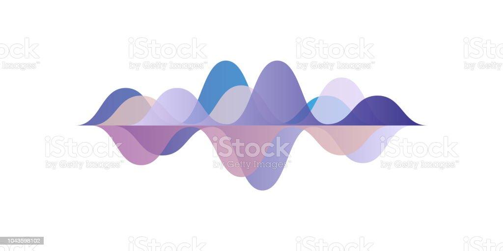 Musikalischen Puls, Schallwellen, audio-Equalizer-Technologie, Vektor-Illustration auf weißem Hintergrund – Vektorgrafik