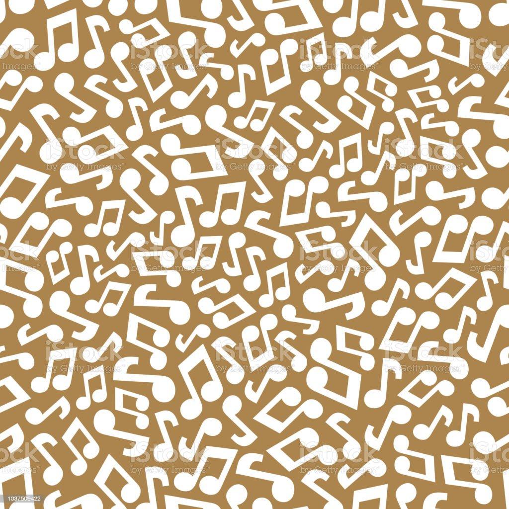 音符と音楽のシームレスなパターン抽象的な背景の繰り返しベクトルの図