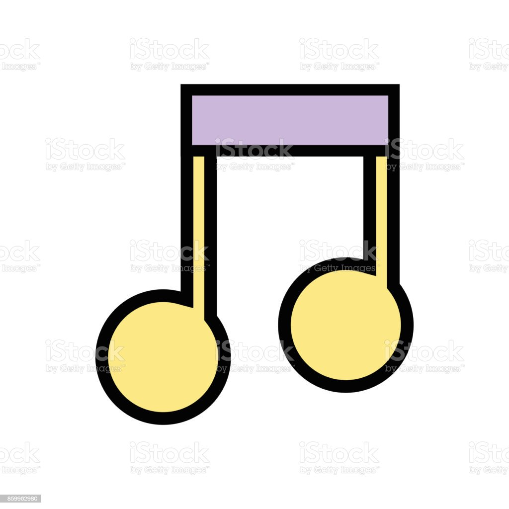 musical sign note to rhythm tone vector art illustration