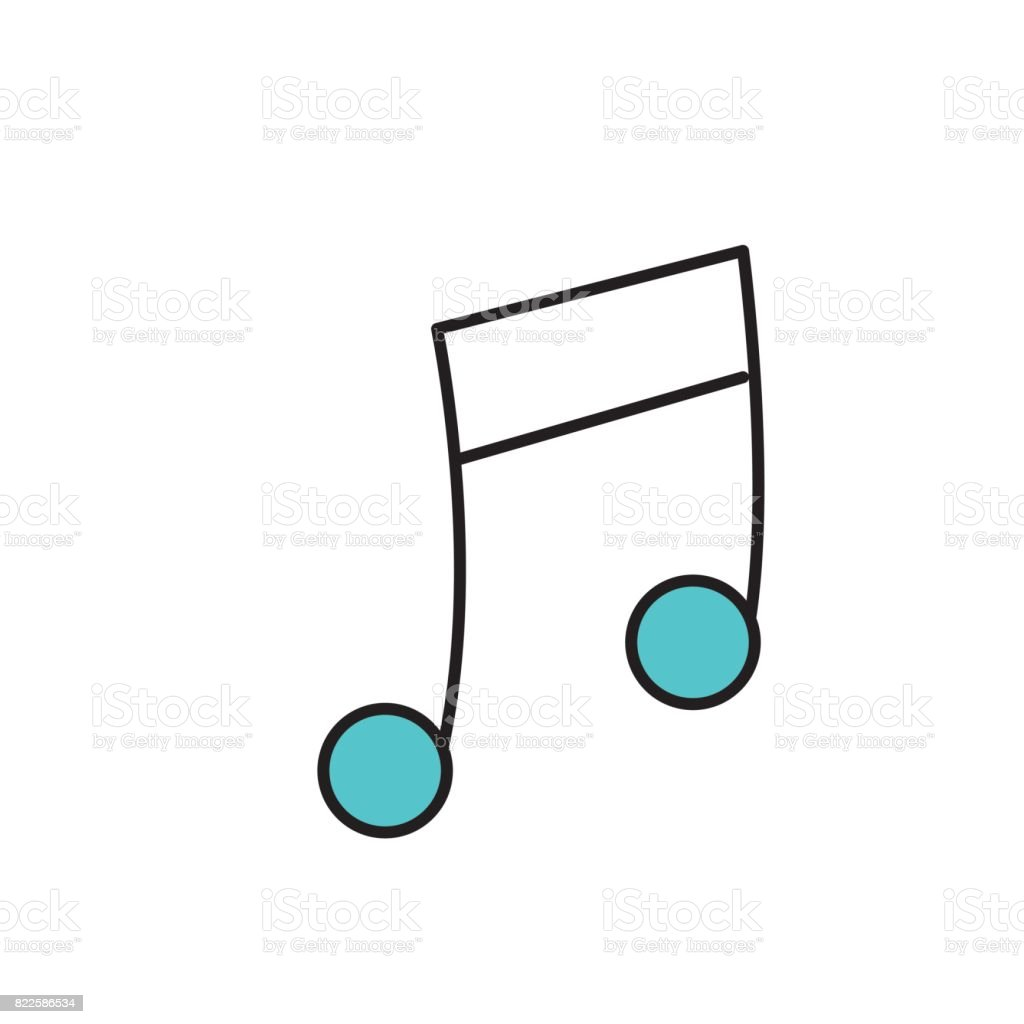 musical sign to can play a instrument vector art illustration