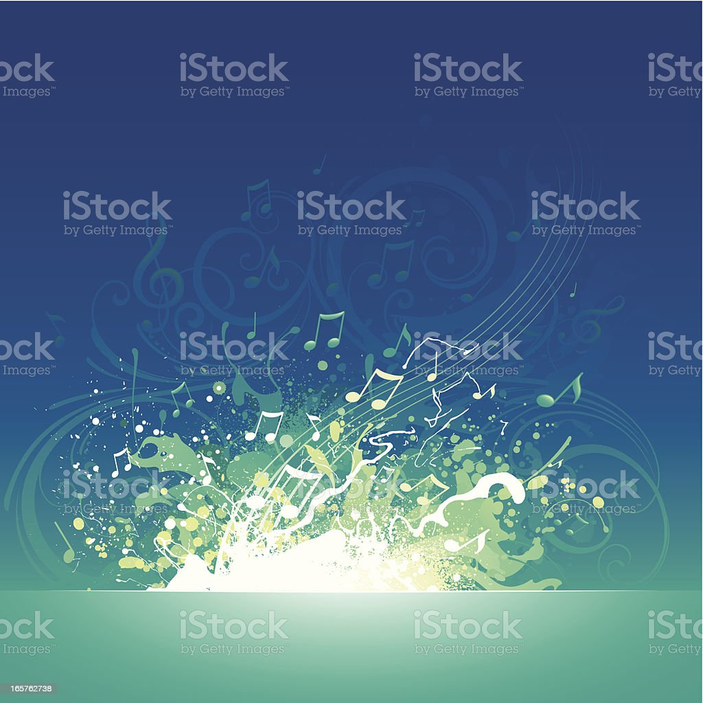 Musical splash background royalty-free musical splash background stock vector art & more images of arts culture and entertainment