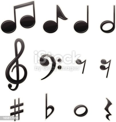 Musical symbol collection.