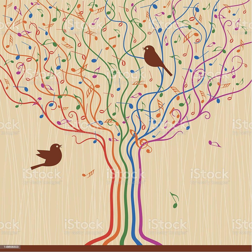 Musical Tree royalty-free stock vector art