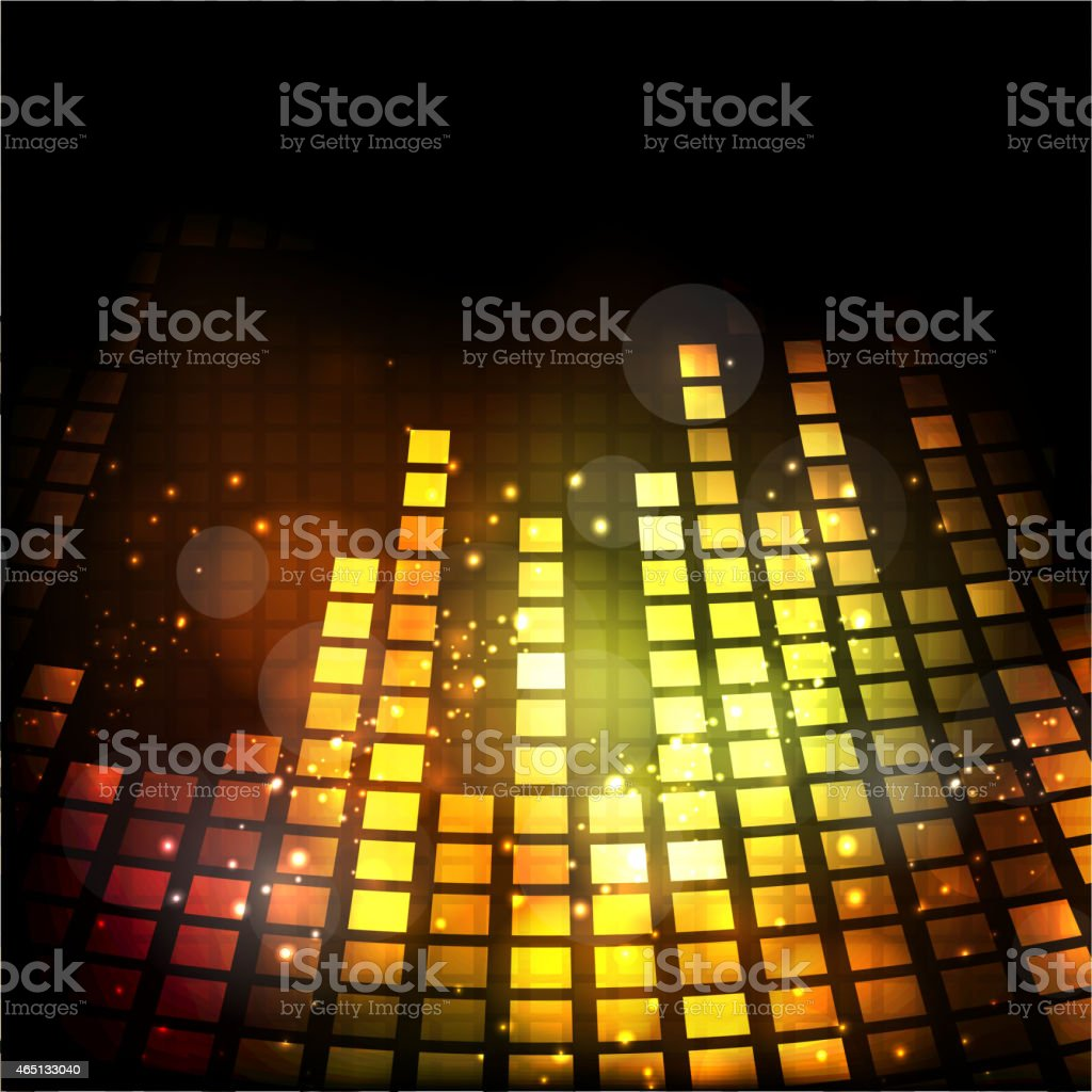 Musical volumen in shiny golden color. vector art illustration