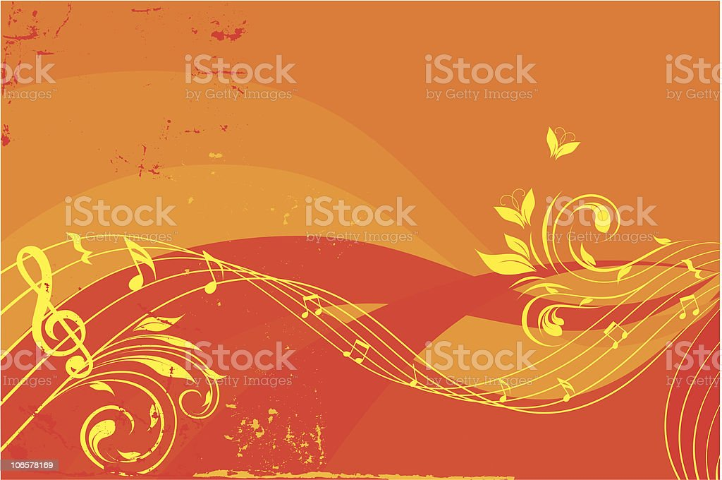 musical waves background royalty-free stock vector art
