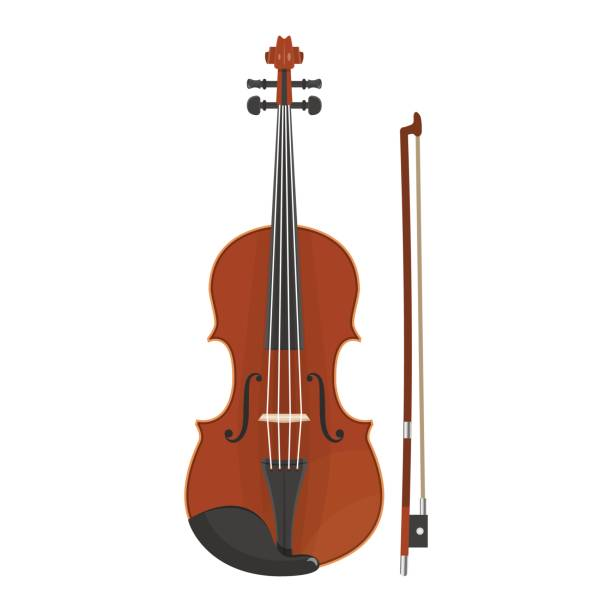 musical_instruments - skrzypce stock illustrations