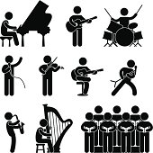 istock Musician Pictogram 164449407