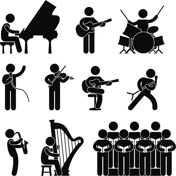 Musicien Pictogram - Illustration vectorielle