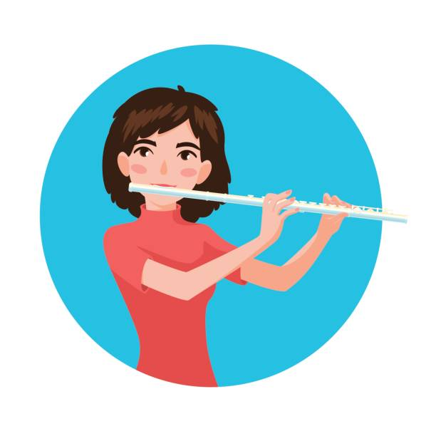 Royalty Free Flautist Clip Art, Vector Images ...