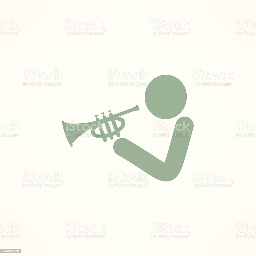 Musician Playing Trumpet Stock Vector Art & More Images of