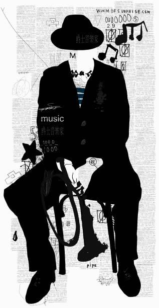 Musician vector art illustration