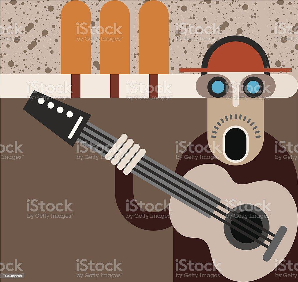 Musician - vector illustration royalty-free stock vector art