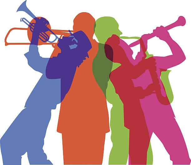 stockillustraties, clipart, cartoons en iconen met musicians c - klarinet