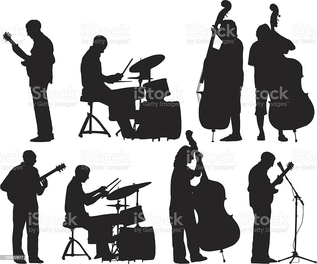 musicians silhouettes set stock vector art more images of arts