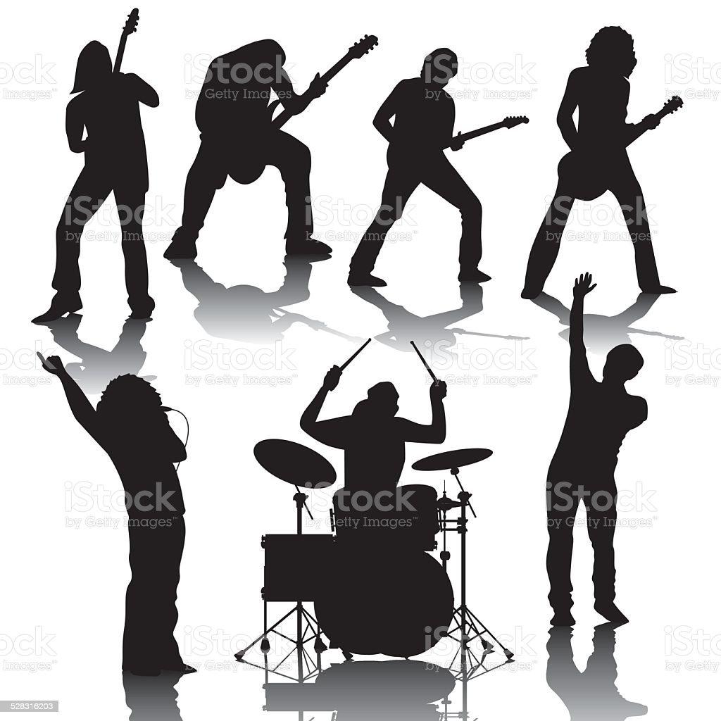 Musicians vector art illustration
