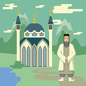Muslim and mosque.