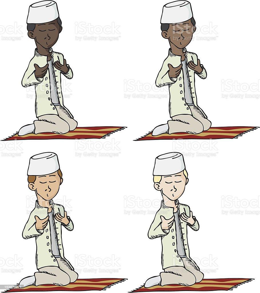 Niño musulmana rezar ilustración de niño musulmana rezar y más banco de  imágenes de adolescente libre 2ecb5637f4a