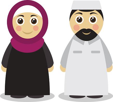 Muslim couple man and woman