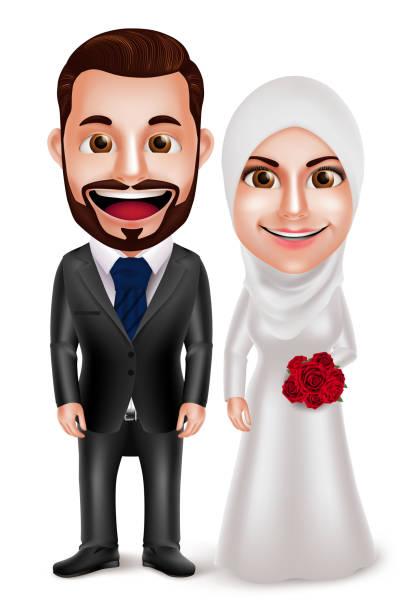 Muslim Wedding Vector Art Graphics Freevector Com