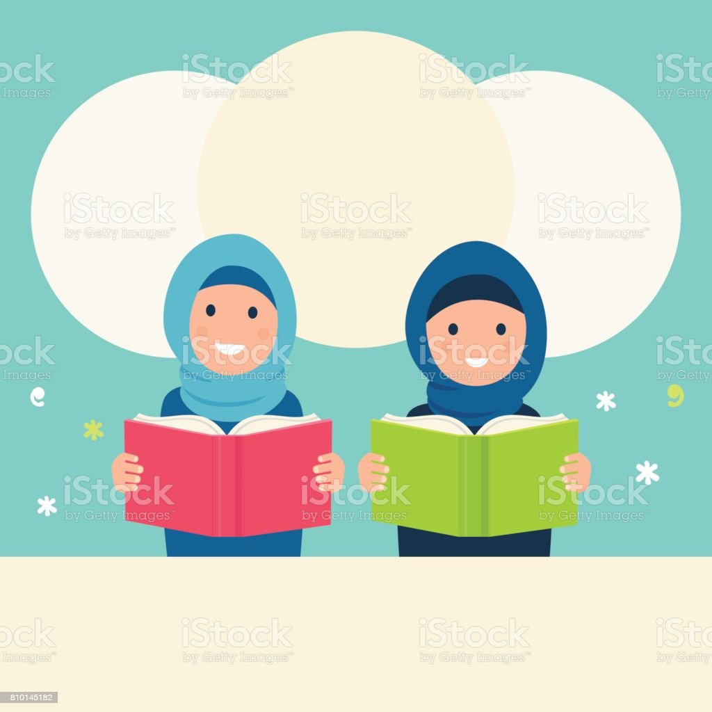 royalty free muslim child reading clip art vector images rh istockphoto com read clipart free read clipart black and white