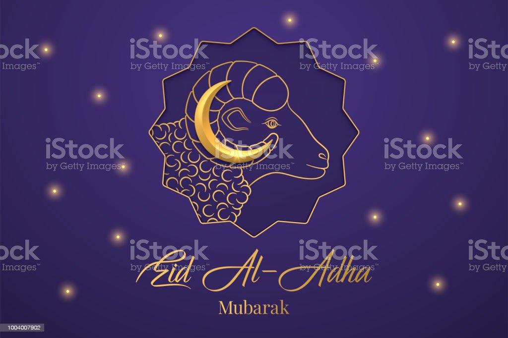 Muslimischen Feiertag Eid al Adha Mubarak – Vektorgrafik