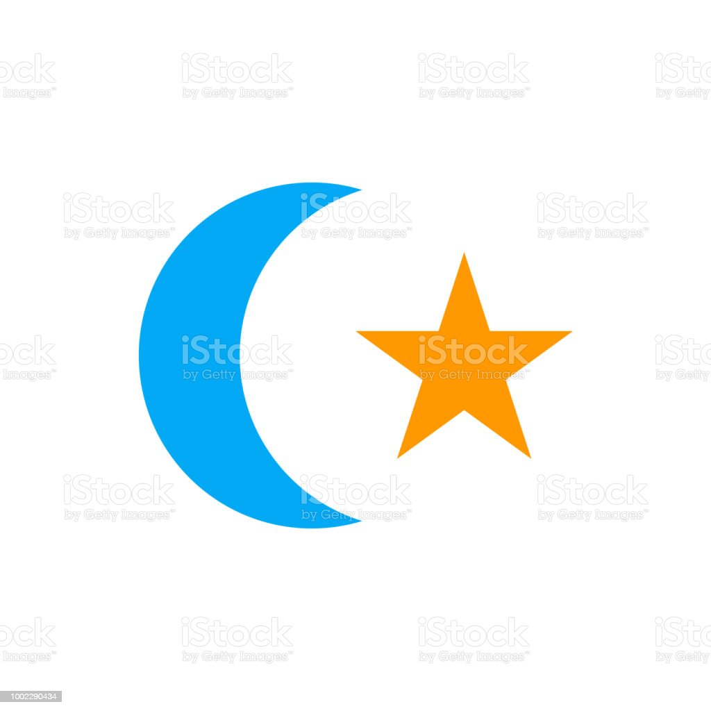 Muslim Icon Vector Sign And Symbol Isolated On White Background