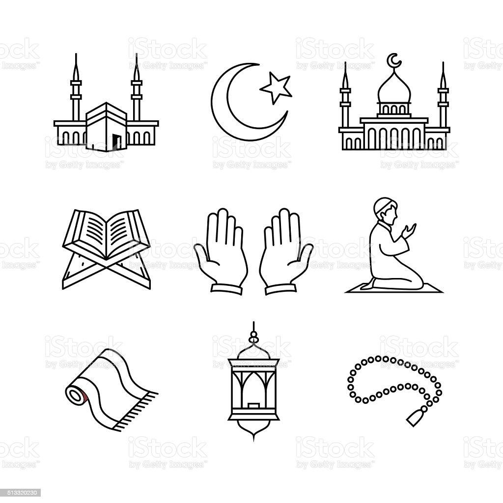 Royalty Free Prayer Mat Clip Art, Vector Images