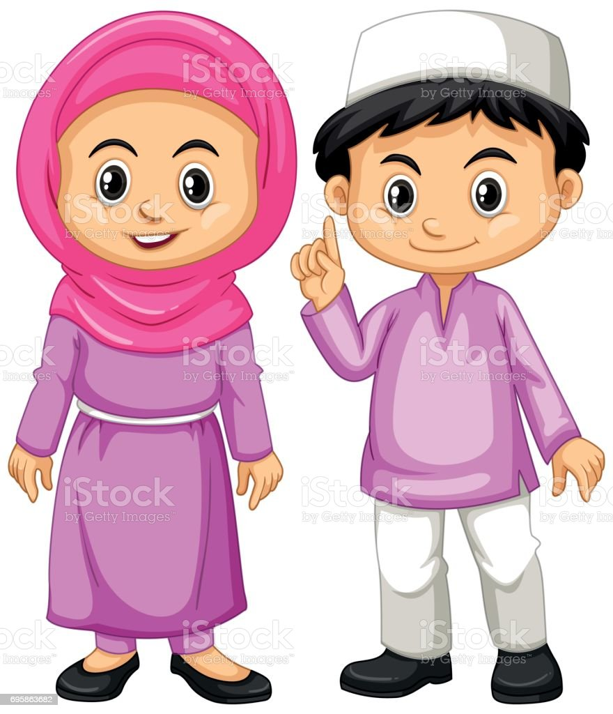 royalty free cute muslim girl pictures clip art vector images rh istockphoto com muslim praying clipart muslim clipart vector
