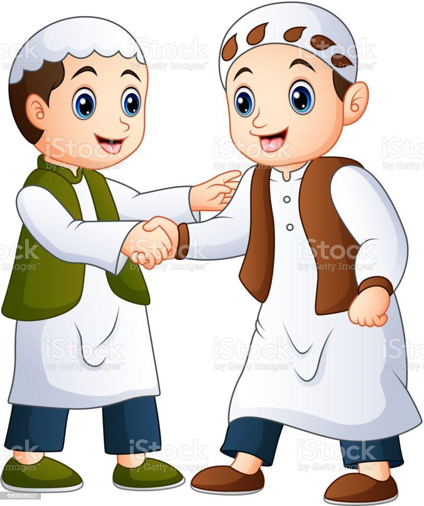 royalty free muslim friends clip art vector images illustrations rh istockphoto com muslim family clipart muslim clipart vector