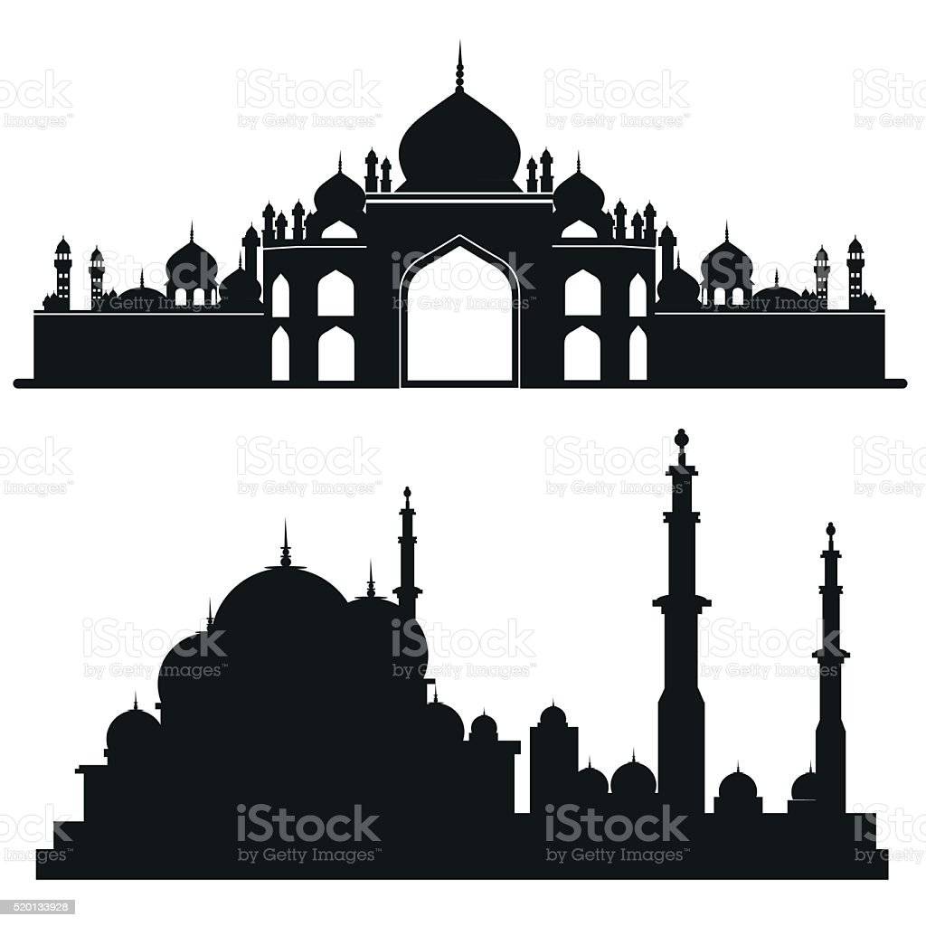 Muslim mosque Vector architecture vector art illustration
