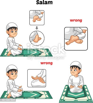 istock Muslim Prayer Position Guide Step by Step Perform by Boy 521037534